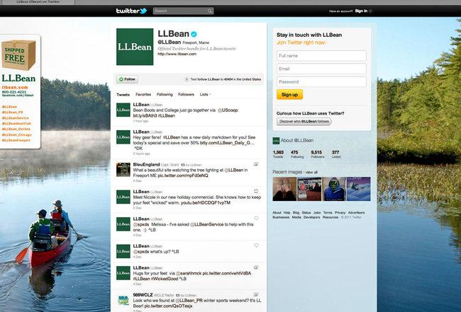 Social Media + L. L. Bean
