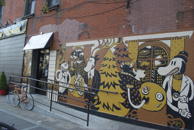 Mural Outside of Dunkin Donuts Bedford Avenue