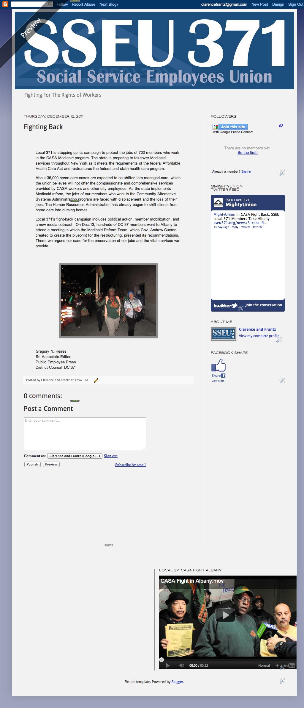 Laboring For Laborer's Rights: CASA & Local 371
