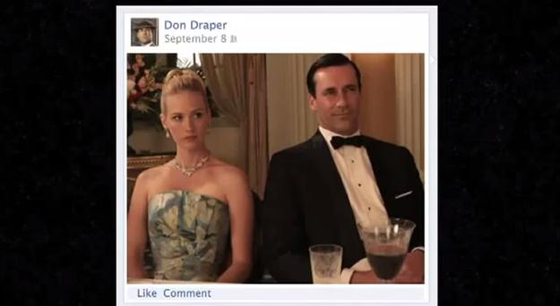 Don Draper Sells Facebook Timeline